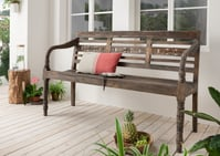 Sitzbank, 3-sitzig vintage-antik-braun