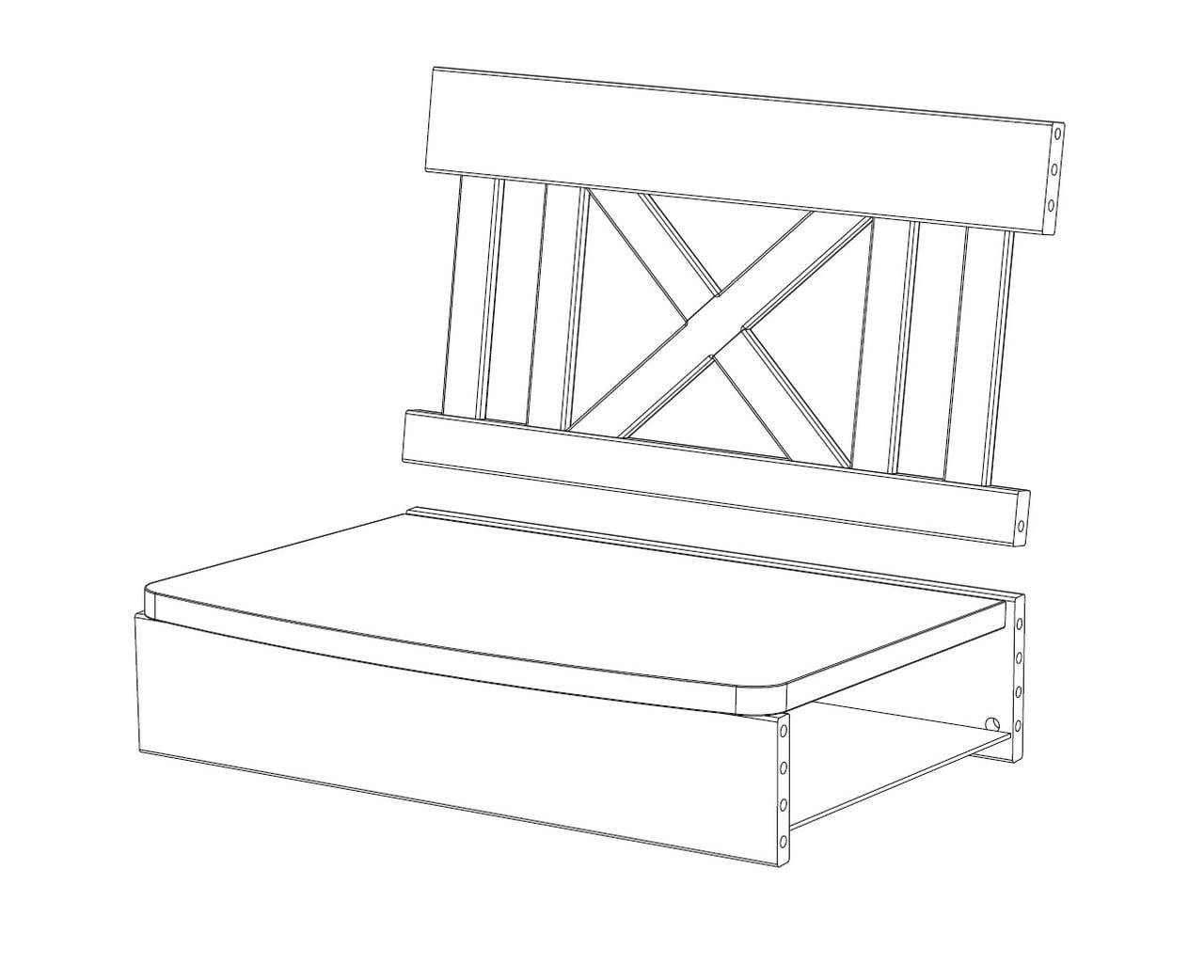 1-er Sitzbankelement X-Line