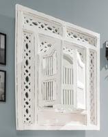 Wandspiegel mit 2 Türen, weiß