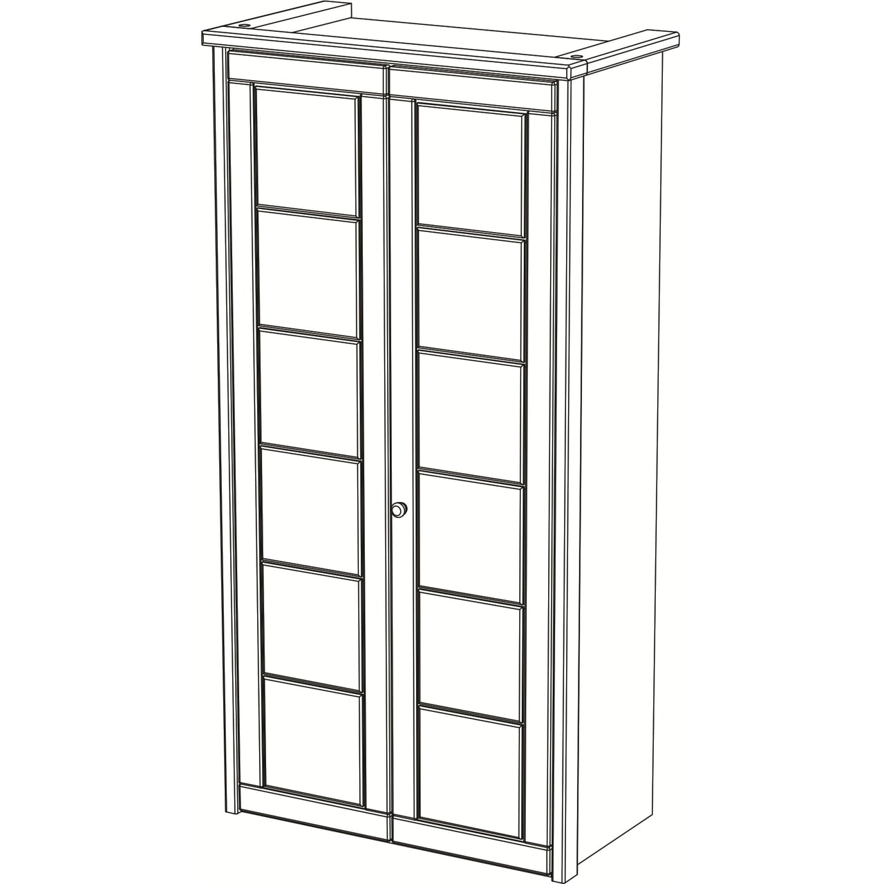 Vita Kleiderschrank, 2-türig