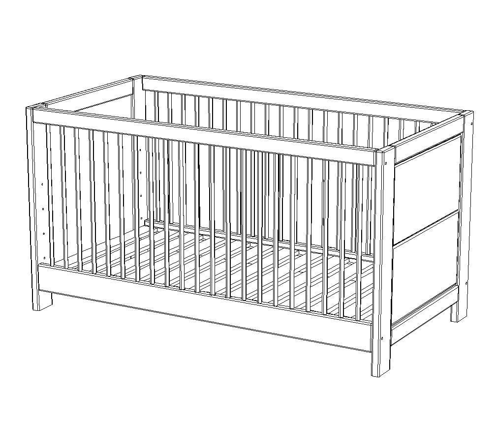 Kinderbett Vita inkl. Umbauseiten