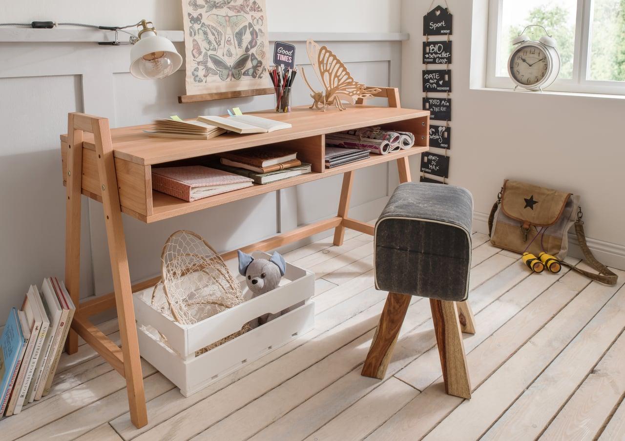 Massivholz Buche Schreibtisch, höhenverstellbar
