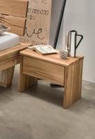 Rustiko Nachttisch, Wildeiche Massivholz
