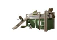Hochbett Infans mit Rutsche & gerader Leiter, Höhe 117 cm