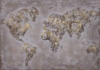 Struktur- Wandbild Goldene Welt