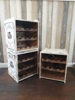 Weinregal vintage weiß, für 12 Flaschen