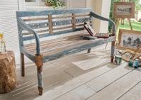 Sitzbank in vintage- multicolor, 3-sitzig