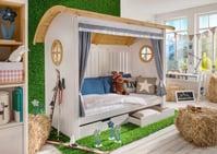 Alpenhütten Bett inkl. Zubehör