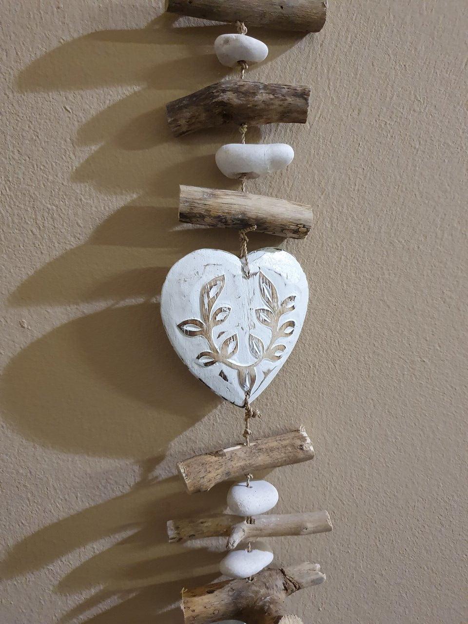 Treibholzkette Herz