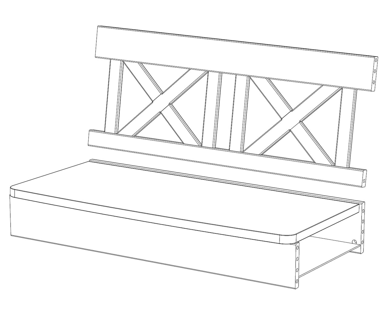 2-er Sitzbankelement X-Line