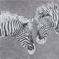 Struktur-Wandbild Zebra II